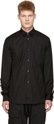 Comme Des Garcons Shirt Black Adjustable Sleeves Shirt
