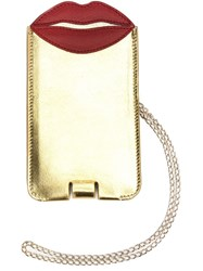 Charlotte Olympia 'Pouty' Phone Sleeve Yellow And Orange