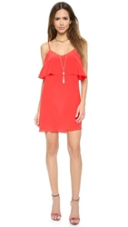 Rory Beca Fina Deep V Back Dress Bright Red
