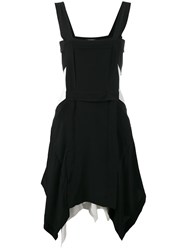 Isabel Marant Handkerchief Hem Apron Dress Black