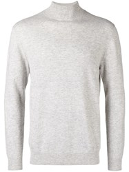 N.Peal Turtleneck Fitted Sweater Grey