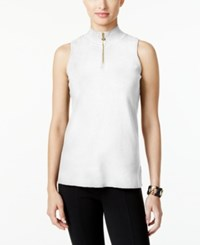 Alfani Prima Mock Turtleneck Sweater Only At Macy's Soft White