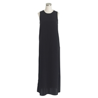 J.Crew Petite Side Slit Maxi Tank Dress Black