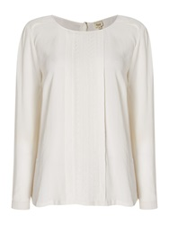 Linea Strand Embroidered Blouse Off White