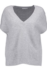 Duffy Ribbed Cashmere Sweater Light Gray