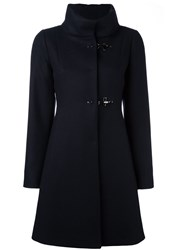 Fay Funnel Neck Coat Blue