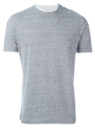Brunello Cucinelli Basic T Shirt Grey