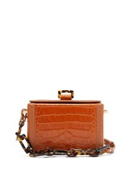 Nico Giani Cerea Mini Crocodile Effect Leather Box Bag Tan