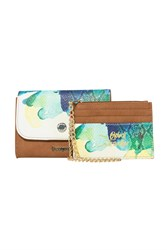 Desigual Wallet Two In One Aquarelle White