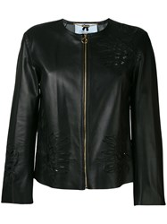 Blumarine Floral Embroidered Jacket Black