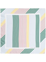 Tommy Hilfiger Striped Patter Scarf White