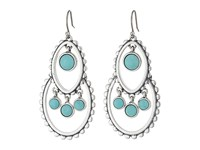 Lucky Brand Turquoise Tribal Drop Earrings Silver Earring