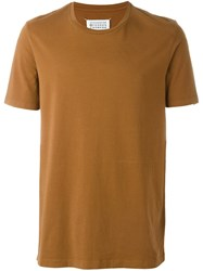 Maison Martin Margiela Two Tone T Shirt Brown