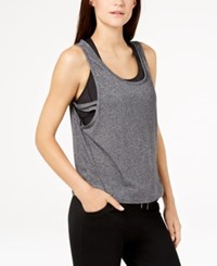 Gaiam Harley Burnout Cropped Tank Top Black Heather