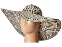 Lauren Ralph Lauren Basketry Weave Sun Hat Black Natural Caps