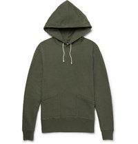 J.Crew Wallace Loopback Cotton Jersey Hoodie Green