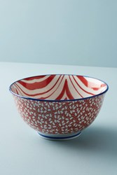 Anthropologie Marta Serving Bowl Red