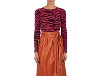 Marc Jacobs Women's Zebra Pattern Cashmere Sweater Pink
