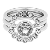 Ted Baker Cadyna Concentric Crystal Ring Silver Clear
