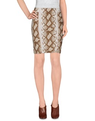 Ean 13 Knee Length Skirts Beige