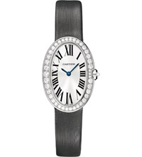 Cartier Baignoire 18Ct White Gold And Diamond Small Watch