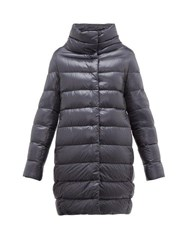 Herno Dora Quilted Down Coat Dark Blue