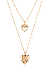 Frasier Sterling Angel Of Mine Prelayer Necklace Metallic Gold