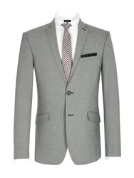 Limehaus Puppytooth Single Breasted Suit Jacket Grey