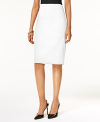 Grace Elements Seamed Pencil Skirt Ivory