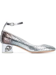 Alexander Mcqueen Skull Heel Degrade Pumps Metallic