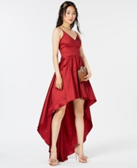 B. Darlin B Juniors' High Low Dress Ruby