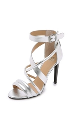 Joe's Jeans Robbie Strappy Sandals Silver