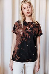 Urban Renewal Remade Destroyed Bleached Short Sleeved Tee Black