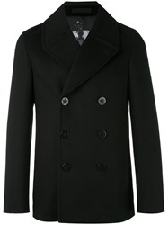 Alexander Mcqueen Short Double Breasted Coat Men Cotton Polyester Viscose Virgin Wool 48 Black