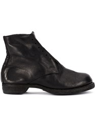 Guidi Slip On Fitted Boots Black