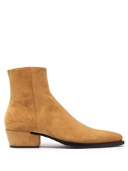 Givenchy Dallas Pointed Toe Suede Boots Tan