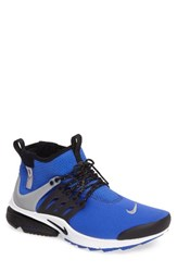 Nike Men's Air Presto Mid Utility Water Repellent Sneaker Paramount Blue Black Silver
