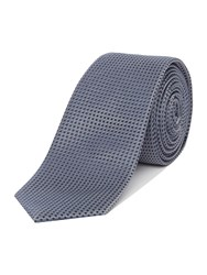 Simon Carter Patterned Tie Grey