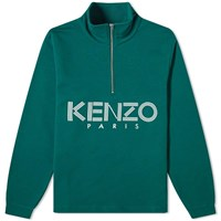Kenzo Sport Half Zip Sweat Green