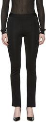 Givenchy Black Knit Gold Button Leggings