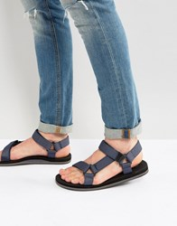 Call It Spring Asoedien Canvas Strap Sandals Blue