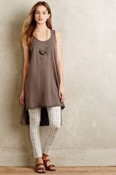 Anthropologie High Low Tunic Tank Taupe