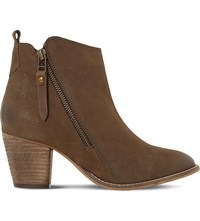 Dune W Pontoon Wide Fit Side Zip Ankle Boot Taupe Nubuck