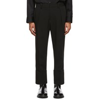Wooyoungmi Black Rolled Cuff Trousers