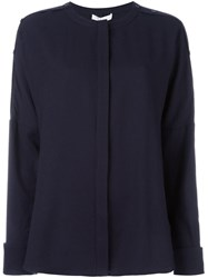 Tibi Relaxed Fit Blouse Blue