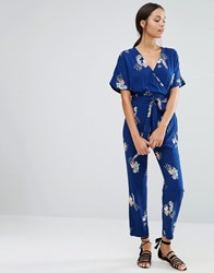 Yumi Uttam Boutique Floral Jumpsuit Navy