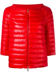 Herno Three Quarters Down Jacket Red