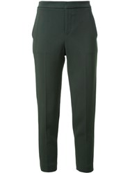 Scanlan Theodore Stretch Faille Atelier Trousers Green