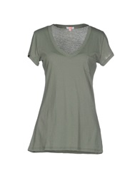 Sun 68 T Shirts Light Green