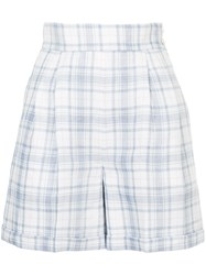 Cityshop Checked Shorts White